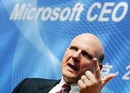 Steve Ballmer, Geschäftsführer von Microsoft, möchte laut eigener Aussage ...