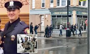 Jersey <b>City</b> gun battle: male and female shooters kill policeman ...