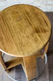we create this stool primarily from an authentic recycled red wine barrel the solid oak authentic oak red wine