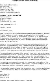 grad nurse cover letter example sample cover  seangarrette cocover letter sample nursing graduate sample graduate nurse cover letter
