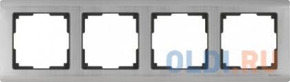 <b>Рамка Metallic</b> на 4 поста глянцевый никель WL02-Frame-04 ...