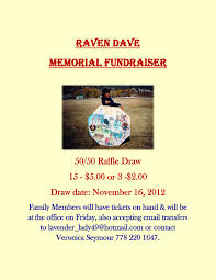 raven dave memorial fundraiser ttes weekly 50 50 raffle draw
