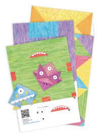<b>Набор закладок</b>-<b>оригами</b> «Монстрики» (Алина Агапитова) - <b>МИФ</b>