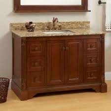 bathroom quot mission linen: quot trevett vanity for rectangular undermount sink walnut
