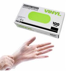 Купить <b>Перчатки виниловые Vinyl</b> L, 100 шт недорого в ...