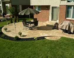 stamped concrete patio blaine