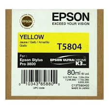 <b>Yellow</b> - <b>EPSON</b> 3880 / 3800 - <b>80ml</b> UltraChrome K3 Ink - New ...
