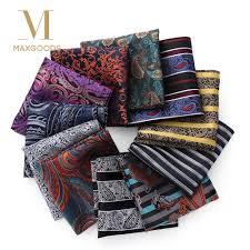 23*23cm <b>Luxury Men's</b> 100% Silk <b>Handkerchief</b> Paisley Floral ...
