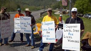 wv workers protest in doddridge county against out of state work wv workers protest in doddridge county against out of state workers