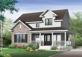 House plan W detail from DrummondHousePlans comfront   BASE MODEL Transitional style house plan   wraparound porch  large kitchen island