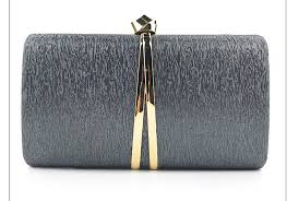 <b>ROOGLI 2020</b> Women's black evening bag metal decoration hand ...
