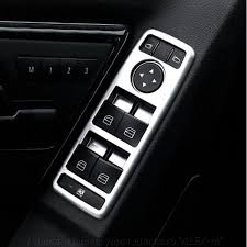 <b>Накладки на стеклоподъёмники</b> матовый хром для Mercedes E ...