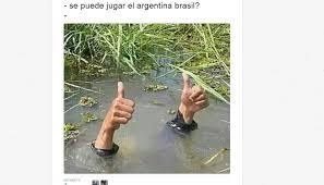 Argentina vs. Brasil: el Monumental quedó como piscina y salieron ... via Relatably.com