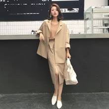 2019 Spring Pant <b>Two</b> Pieces Set Single Breasted Jacket Blazer ...