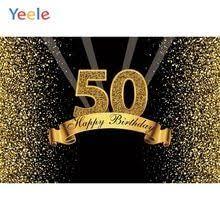 <b>Yeele</b> 50th <b>Birthday Party</b> Gold Polka Dots Sequins Poster Portrait ...