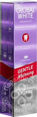 Купить <b>Зубная паста Global</b> White Бережное отбеливание для ...
