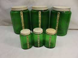 Green Kitchen Canister Set County Line Antique Estate Online Auction In Menominee Michigan