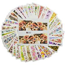 cover sheet reviews online shopping cover sheet stz 48 sheets set nail full cover water decals transfer nail sticker wraps colorful flowers design temporary tattoos a049 096
