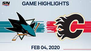NHL Highlights | <b>San Jose Sharks</b> vs. Calgary Flames – Feb. 4, 2020
