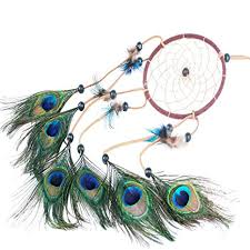Peacock Feathers : Ricdecor <b>Indian Dream catcher</b> Wind Chimes ...
