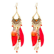 wholesale Europe and the United States brand earrings women <b>red</b> ...