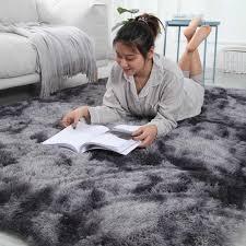Nordic tie dye <b>carpet</b> living room coffee table mat net red bed side ...