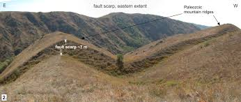 almaty earthquakes and other natural disasters the dumpling cart fault scarp