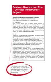 international business postgraduate area of study degrees to example job ad
