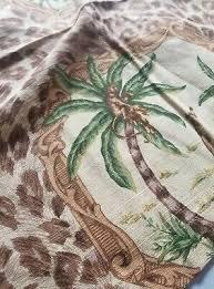 <b>Luxury</b> PIONEER LINENS Palm Beach Xl Fabric Napkins 5 <b>JUNGLE</b> ...