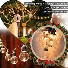 <b>6M 20 LED</b> String Fairy Lights Globe Bulb Lamp Wedding Party ...