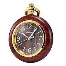 TREEWETO <b>Pocket Watch</b> Antique <b>Wooden Wood</b> Women's Men's ...