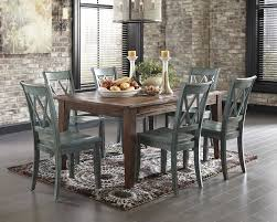 Cottage Dining Room Table Mestler 7pc Dining Room Table Set Vintage Blue Rustic Country