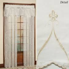window treatments pictures photos cavalier fleur de lis sheer window treatment by croscill