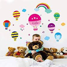 Wall Sticker ymenstore Kindergarten Decoration hot <b>air Balloon</b> ...
