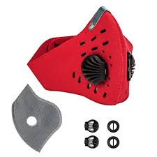 QualityPeaks Red <b>Activated Carbon Dustproof</b> Dust Mask Filtration ...
