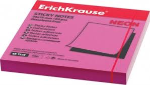 <b>Бумага для заметок Erich</b> Krause 75x75 мм с клеевым краем ...