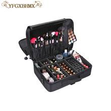 yfgxbhmx makeup artist travel accessories cosmetics organizer beauty cosmetic case bag multi lay
