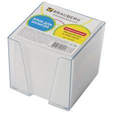 <b>Блок для записей BRAUBERG</b> в подставке прозрачной, куб 9х9х9 ...