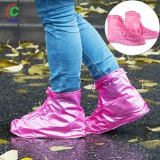 1 <b>Pair</b> Rain Shoes Boots Cover Reusable Waterproof <b>Anti</b>-<b>slip</b> ...