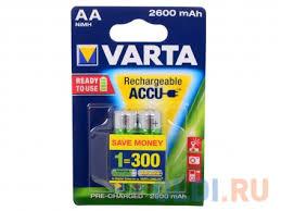 <b>Аккумулятор Varta</b> Mignon Accu <b>AA</b> 2600 mAh R2U бл2 ...