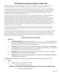 best photos of interview itinerary template sample interview sample interview schedule template