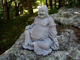 Rare, original and <b>antique Laughing Buddha statues</b> from Burma.