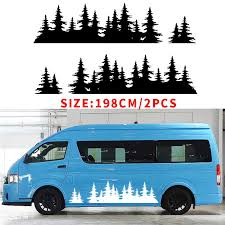<b>Automobile 2x</b> FOR <b>Mountain</b> Decal Tree forest <b>Graphic</b> door or ...