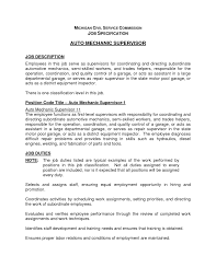 entry level auto mechanic supervisor resume template eager world it