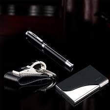 Keychain Ballpoint <b>Pen Business</b> Card Holder 3 Piece <b>Suit</b> ...