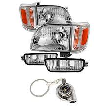 Toyota Tacoma Crystal Headlights W/Amber Corner ... - Amazon.com