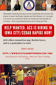 work acs affordable cleaning services call  acs is hiring in iowa city 2015 0516