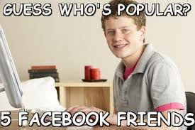 Guess who's popular? 5 facebook friends (Homeschool Harold) | Meme ... via Relatably.com