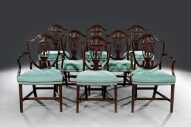 hepplewhite shield dining chairs set: fine set of eight george iii hepplewhite shield back mahogany dining chairs