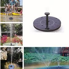 <b>MINI Solar</b> Powered Floating Bird Bath <b>Water</b> Panel <b>Fountain</b> Pump ...